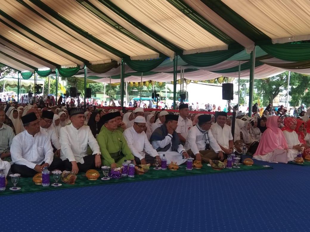 Ribuan Umat Islam Binjai Hadiri Dzikir Akbar Sholawat dan Doa Bersama Haddad Alwie