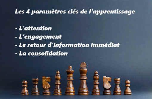 Les 4 paramètres clés de l'apprentissage - Infographie © Echecs & Stratégie