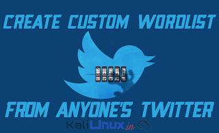 Twofi Create Custom wordlist from Twitter on Kali Linux