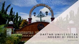 Daftar Universitas Negeri Teraik di Jogja