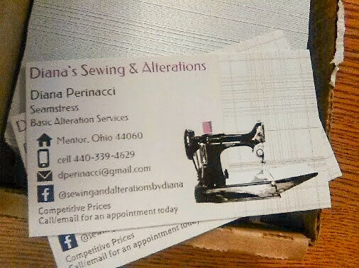 Wordless Wednesday Post - My Sewing and Alterations Business