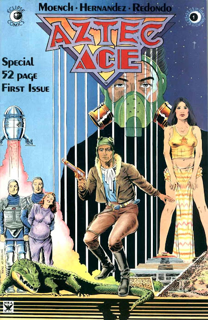 Aztec Ace v1 #1, 1984 comic book cover by nestor redondo