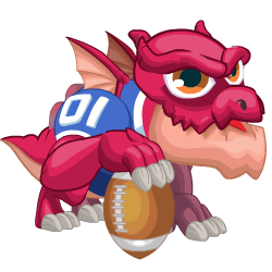 Appearance of Super Bowl Dragon when baby