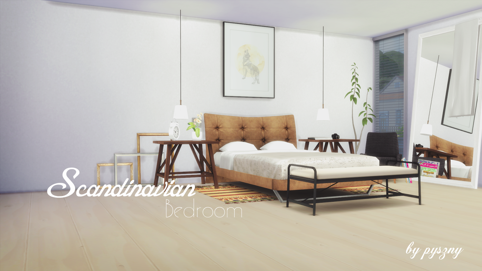 Scandinavian bedroom new set updated for Three room set design