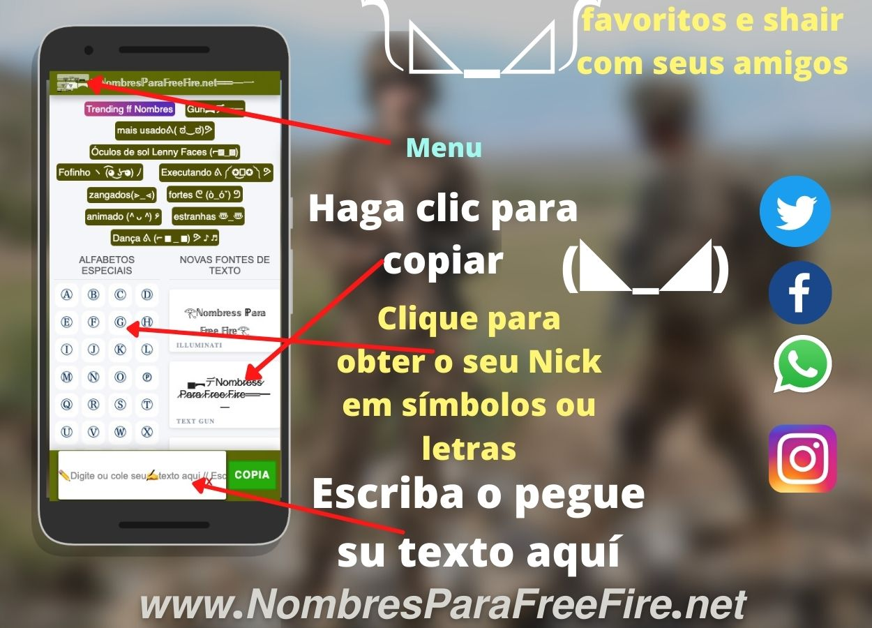 Nombres para free fire