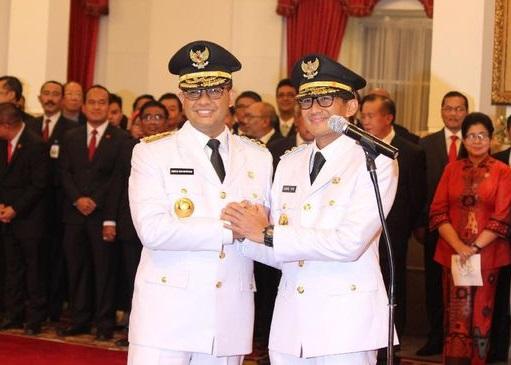 Sah, Gubernur dan Wakil Gubernur DKI Jakarta Telah Di Lantik