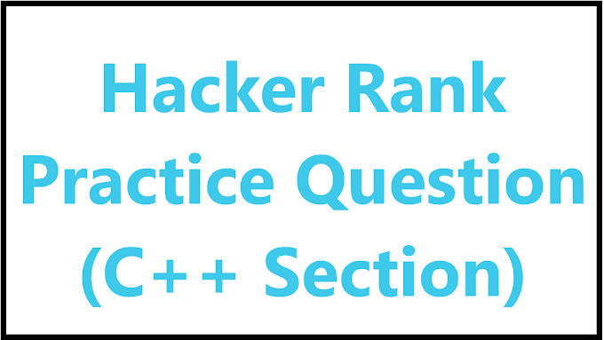 C++ Basic question on Hackerrank - Algomentor