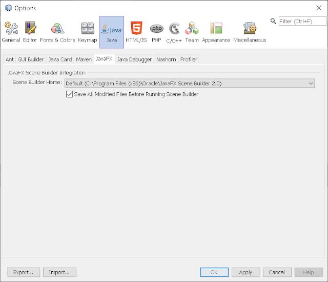 Step 4 - Integrate JavaFX Scene Builder on NetBeans 8.2