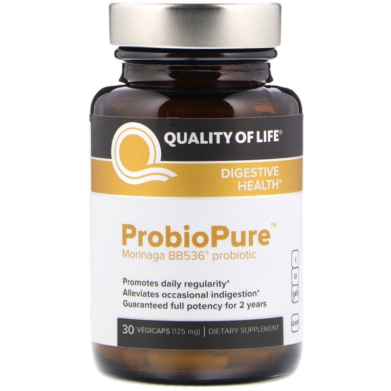 Quality of Life Labs, ProbioPure, пробиотки 30 овощных капсул