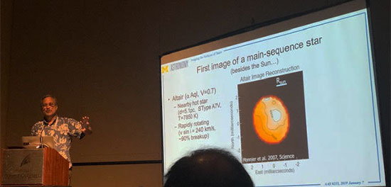 John Monnier reviews first image/rotation of Altair at AAS 235 (Source: Palmia Observatory)