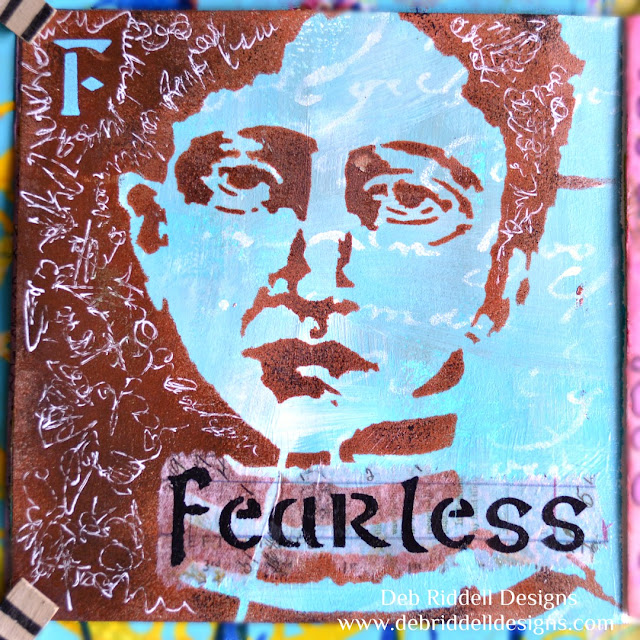 Fearless Art Journal Page