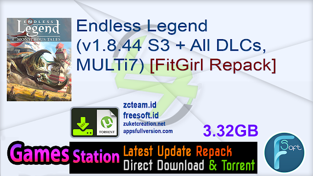 Endless Legend (v1.8.44 S3 + All DLCs, MULTi7) [FitGirl Repack, Selective Download - from 2.1 GB]