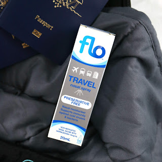 Flo Travel Spray  - The Best Travel Products for a Long Haul International Flight - Travel Essentials and Must Haves, Gift Guide for People Who Like to Travel, What to take on a long haul flight, how to sleep on an international flight