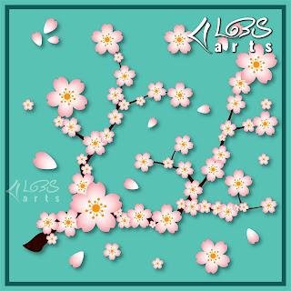 Cherry Blossom Scarf/Hijab Design