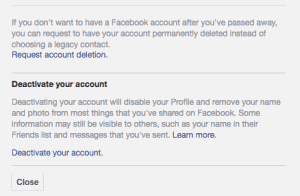 Deactivate Your Facebook Account Temporarily Now