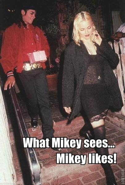 Michael Jackson Madonna Likes Meme