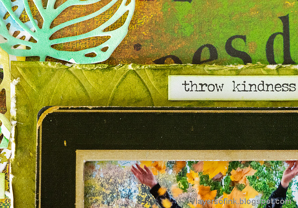 Layers of ink - Beautiful shades of green layout by Anna-Karin Evaldsson.