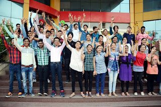 Spring Dale students celebrating their success in CBSE class 10th result