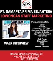 Walk In Interview di PT. Samapta Prima Sejahtera Surabaya Agustus 2020