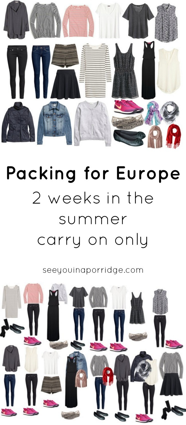 Packing For Europe 2 Weeks In The Summer Carry On Only
