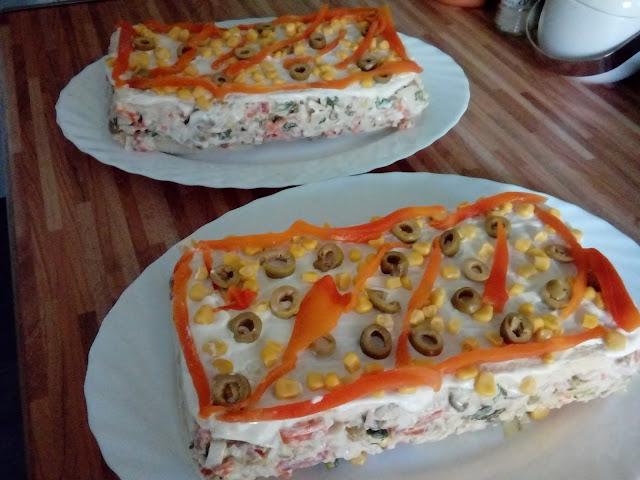 Pastel Bimbo con ensalada