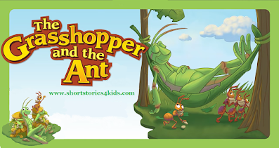 The Grasshopper and the Ant Short Story with picture and pdf