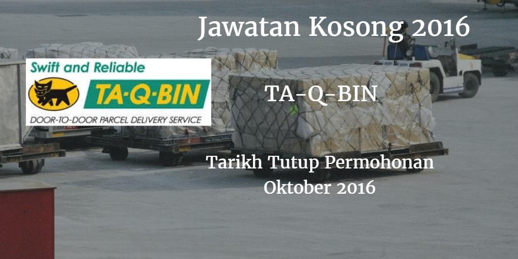 Jawatan Kosong  TA-Q-BIN Oktober 2016
