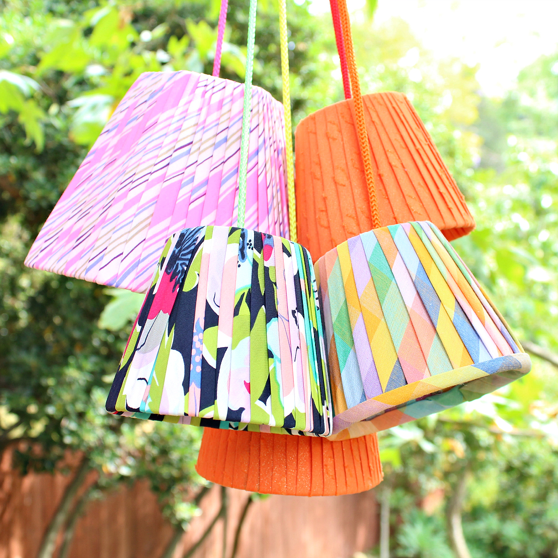 Easy No Sew Pleated Lampshades