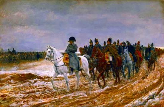 1814, la Campaña de Francia, por Ernest Meissonier, 1864;