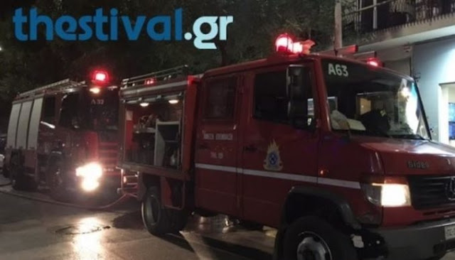 Car exploded by bomb at Albananian Consulate in Thessaloniki