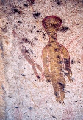 Particolare delle pitture rupestri di Charama