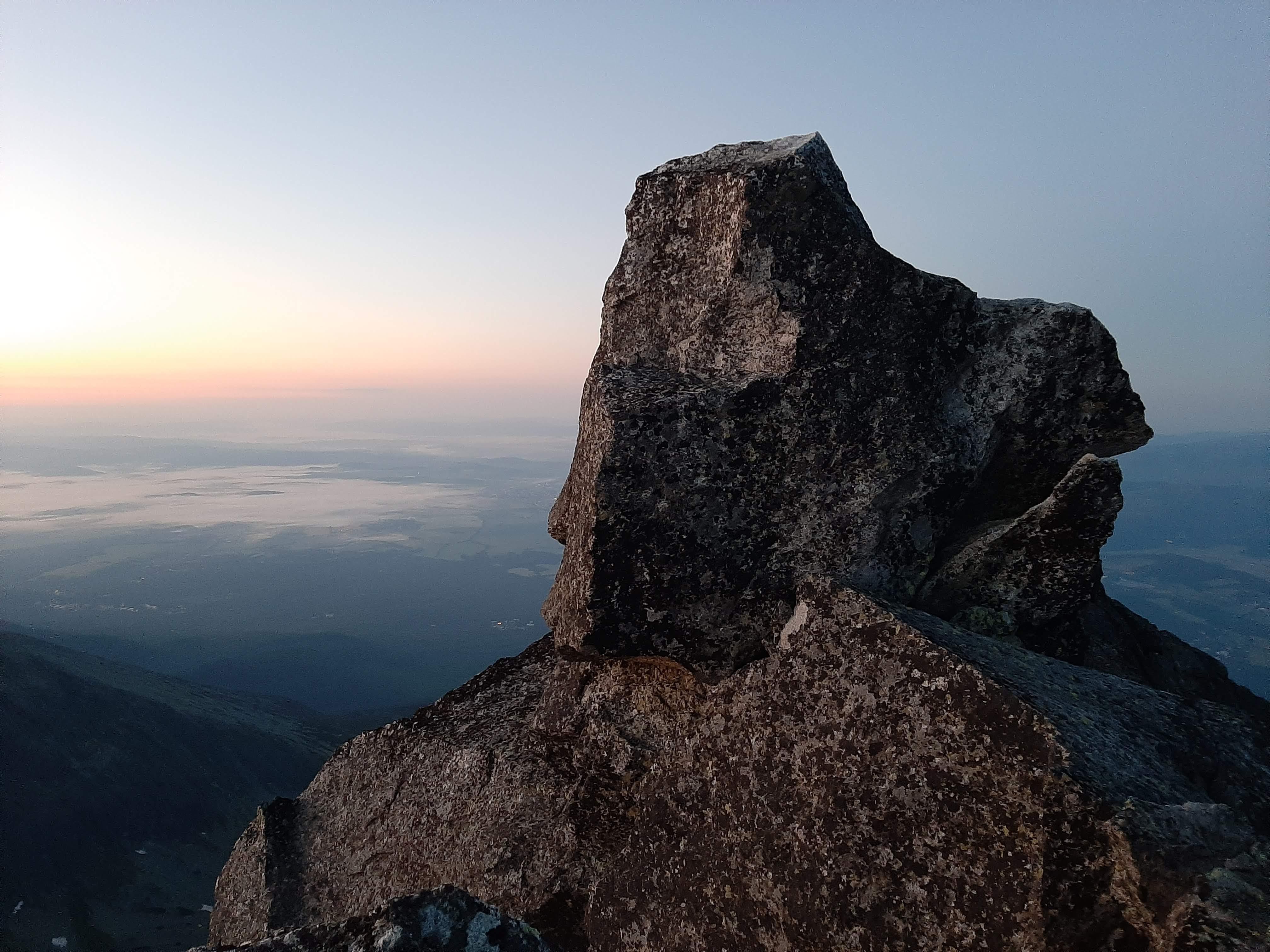 Słowacja, Tatry: Kończysta - Končistá 2537 m n.p.m., kowadło na Kończystej