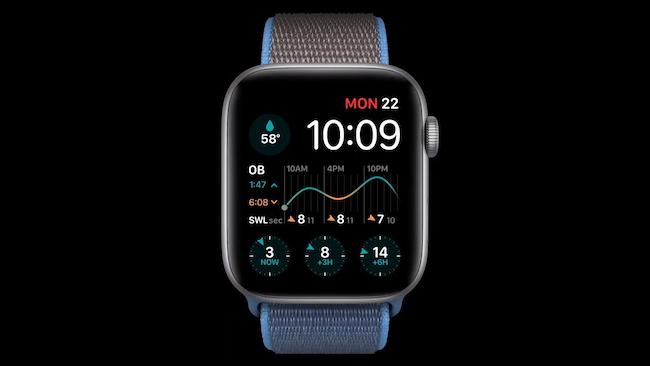 مضاعفات متعددة على وجه ساعة watchOS 7