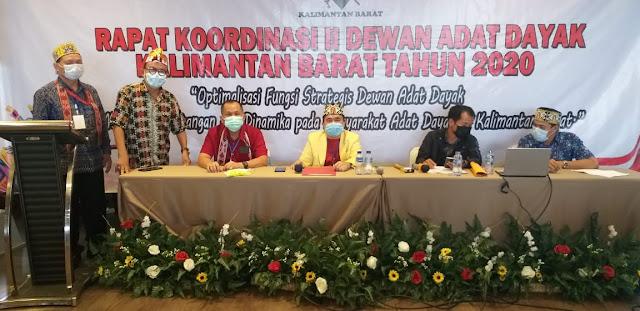 Hasil Rapat Koordinasi  II Dewan Adat Dayak se-Kalbar