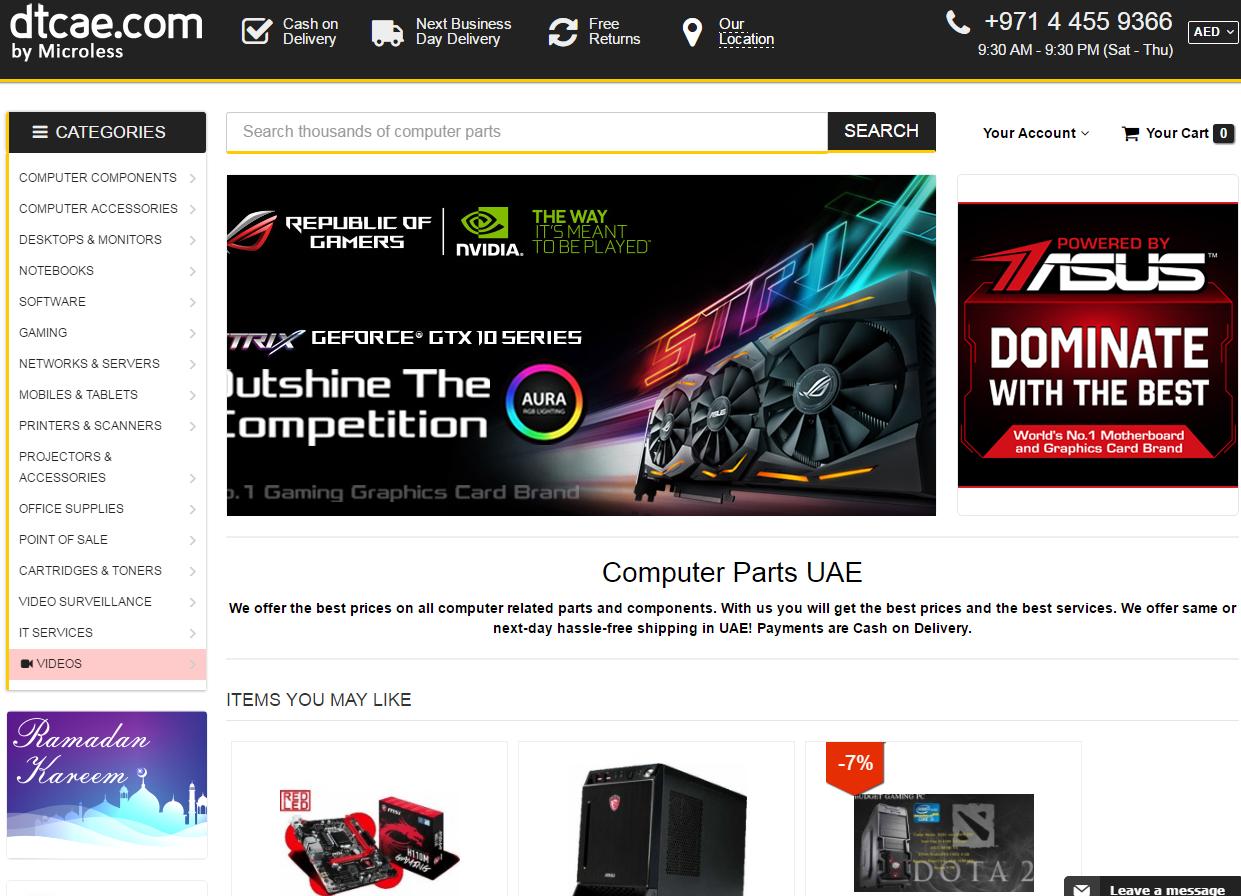 c1a06b0cd9a87 يعتبر موقع dtcae من أفضل مواقع التسوق الاماراتية عبر الانترنت لشراء كل  أنواع الحواسيب المكتبية أو المحمولة ومستلزماتها، وهو موقع تأسس سنة 2011 وهو  تابع ل ...