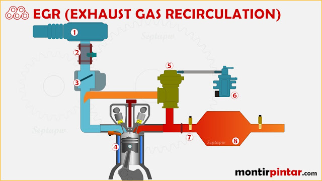 fungsi egr (exhaust gas recirculation)