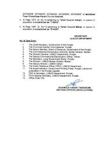 DEMARCATION OF TEHSIL COUNCILS AND ABOLISHED TOWN COMMITTEES OF DISTRICT VEHARI