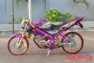 Foto Modifikasi Motor Vixion Thailook Ungu