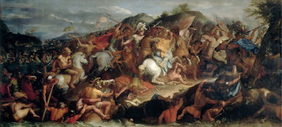 Battle of the Granicus, 1665 painting Charles Le Brun (1619-1690)