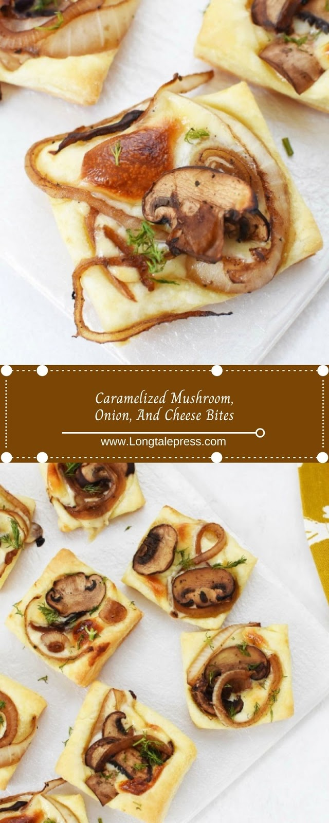Caramelized Mushroom, Onion, And Cheese Bites