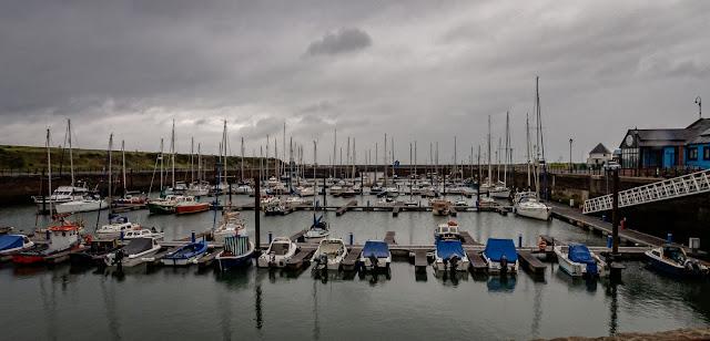 Photo of grey Sunday at Maryport Marina