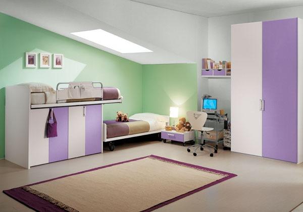 Dormitorios en verde blanco y morado dormitorios colores for Dormitorio verde agua