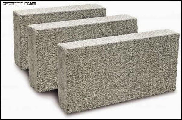 tijolo feito de concreto celular