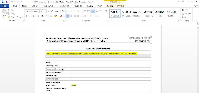 Business Case and Alternatives Analysis Template for Word