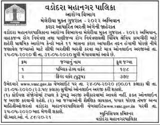 Vadodara Municipal Corporation (VMC) Recruitment.VMC Recruitment