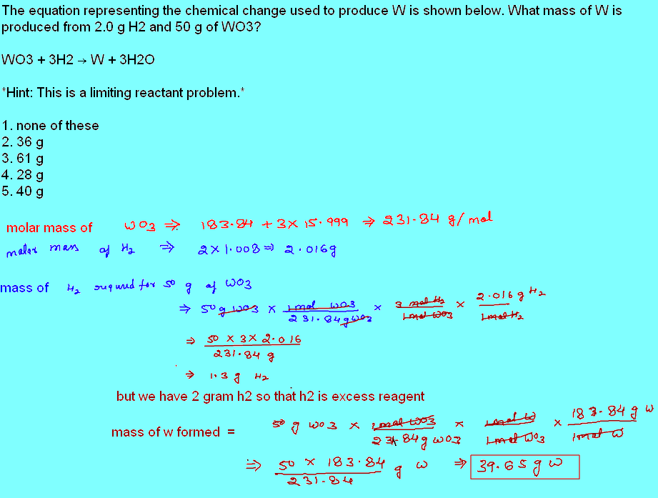 Free Online Help: The equation representing the chemical ...