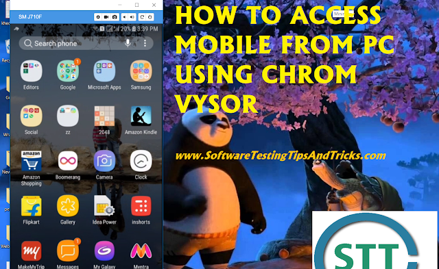 How to access mobile from pc using vysor