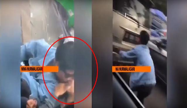 Buat Video Bermesraan Sama Pacar Diparkiran Mobil, Hp Pria ini Terbawa Oleh Mobil Buat Ngakak