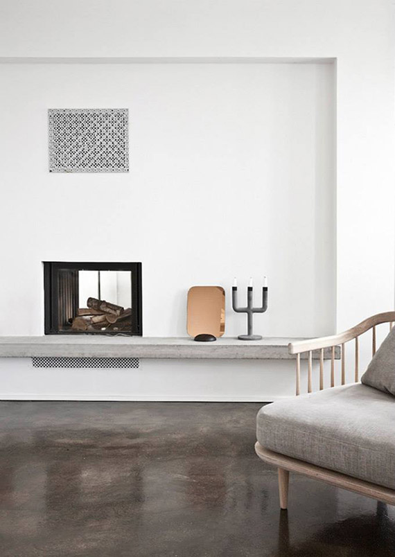 DECOR TREND: Minimalist fireplace | Elle Decoration UK