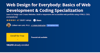 free web design course by Coursera